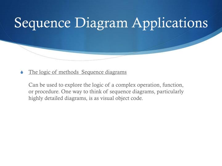 Sequence Diagram Applications