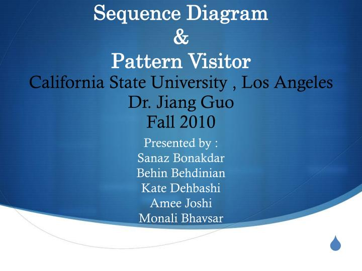 Sequence diagram pattern visitor
