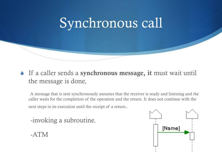 Synchronous call