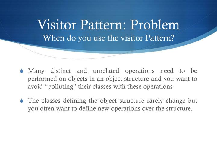 Visitor Pattern: Problem