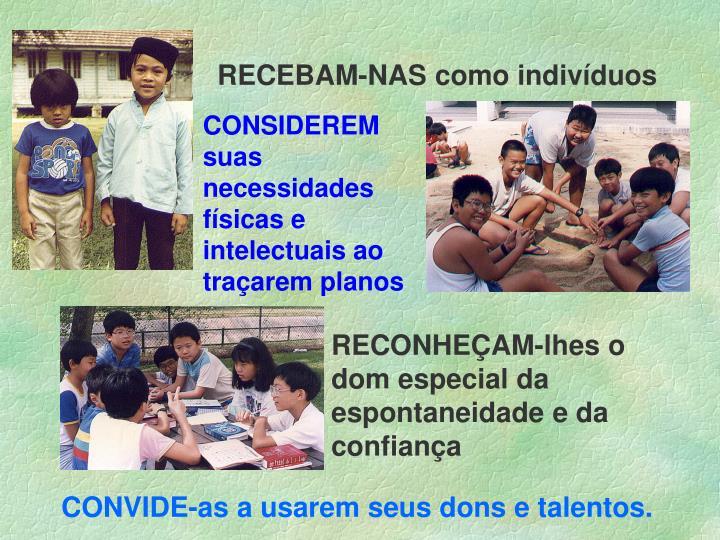 RECEBAM-NAS como indivíduos