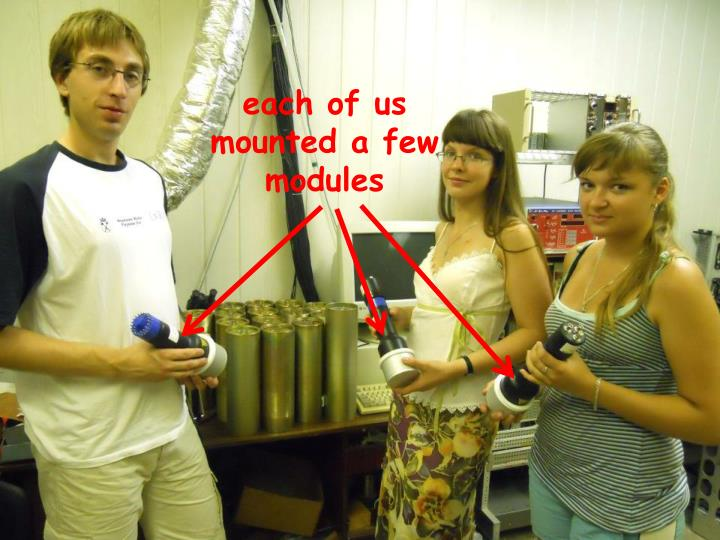 each of us mounted a few modules