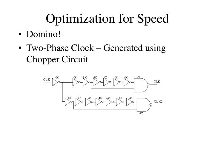 Optimization for Speed