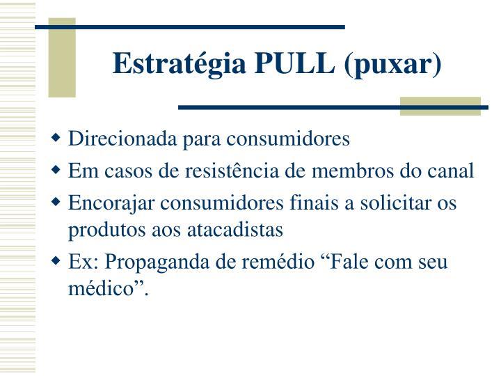 Estratégia PULL (puxar)