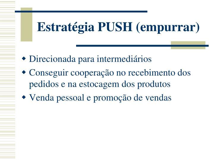 Estratégia PUSH (empurrar)