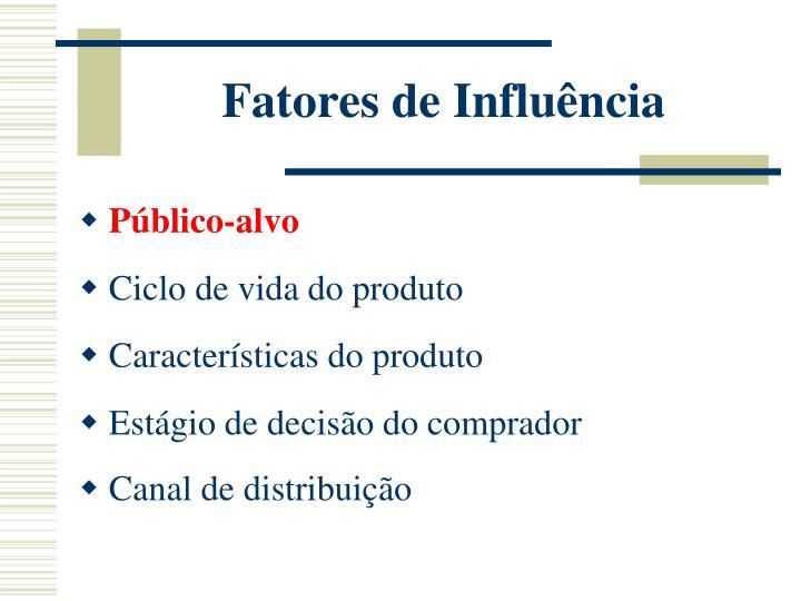 Fatores de Influência