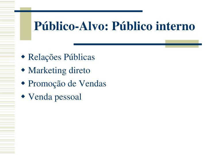 Público-Alvo: Público interno