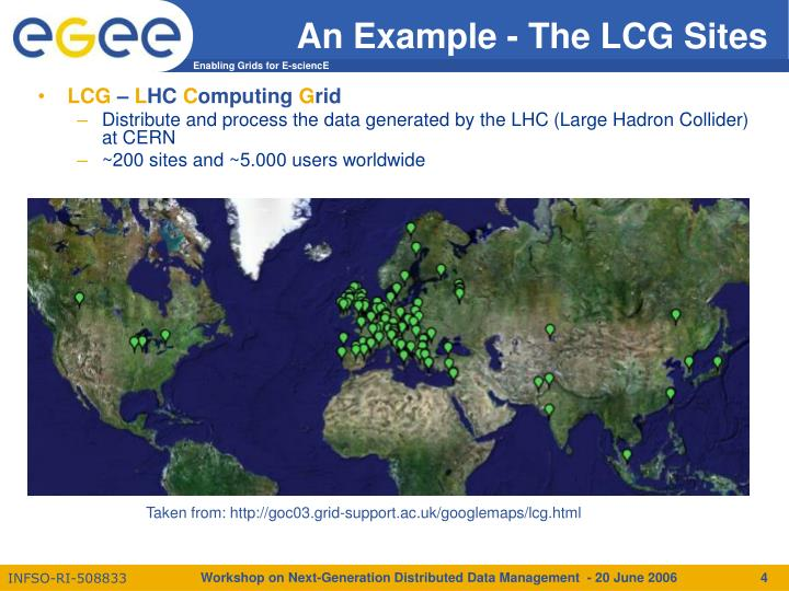 An Example - The LCG Sites