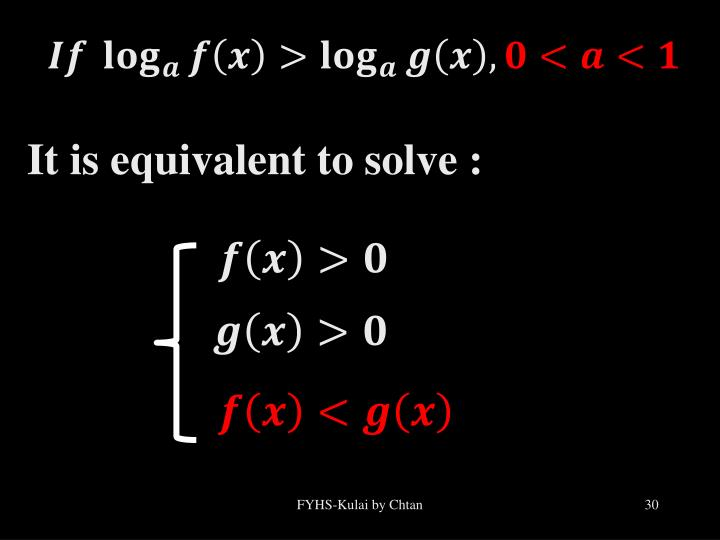 It is equivalent to solve :