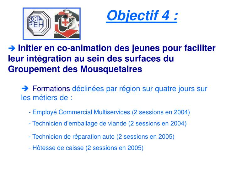 Objectif 4 :