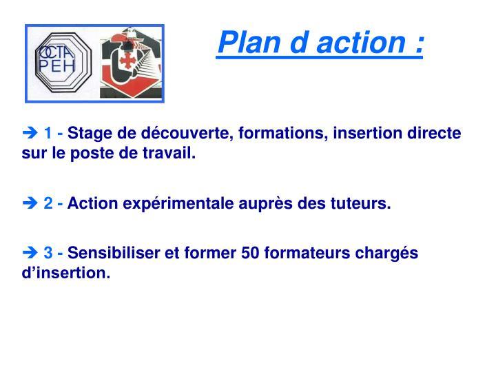 Plan daction :