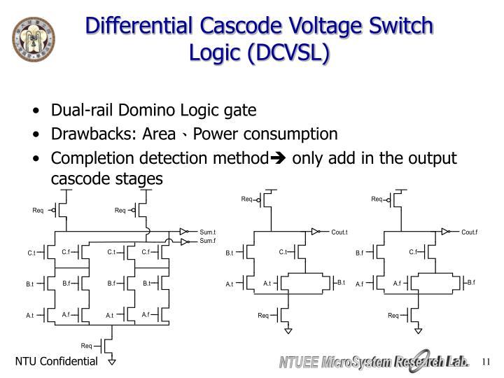 Differential Cascode Voltage Switch Logic (DCVSL)