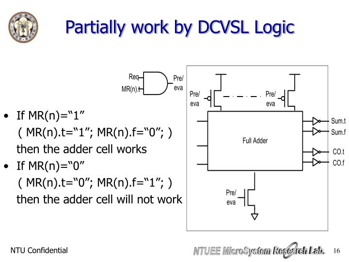 Partially work by DCVSL Logic