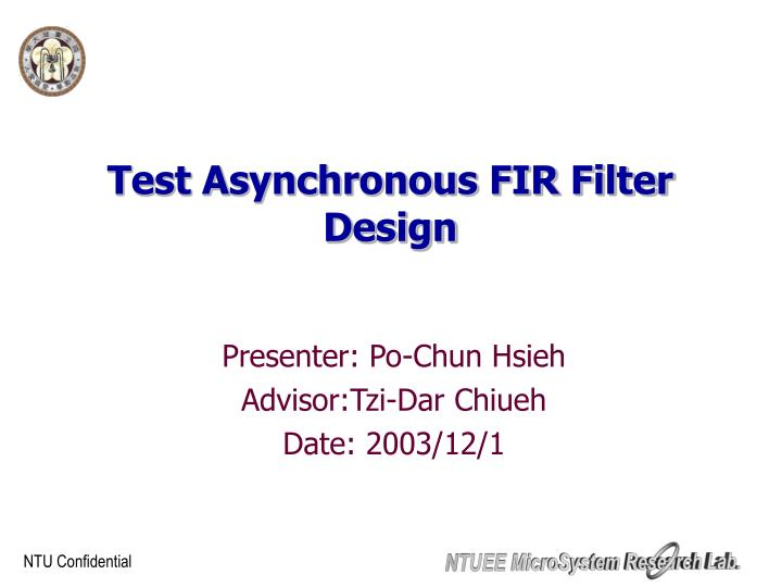 Test asynchronous fir filter design