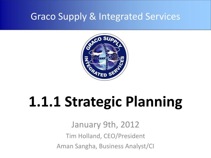 1 1 1 strategic planning