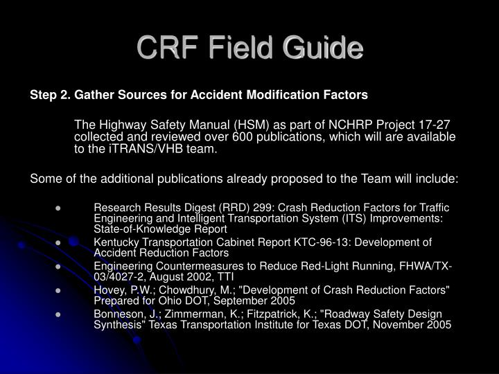 CRF Field Guide