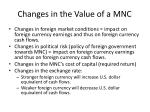 changes in the value of a mnc