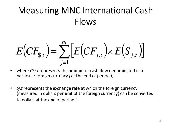 Measuring mnc international cash flows