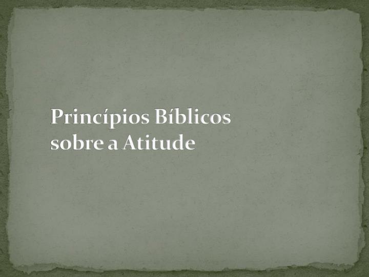 Princípios Bíblicos