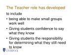 the teacher role has developed