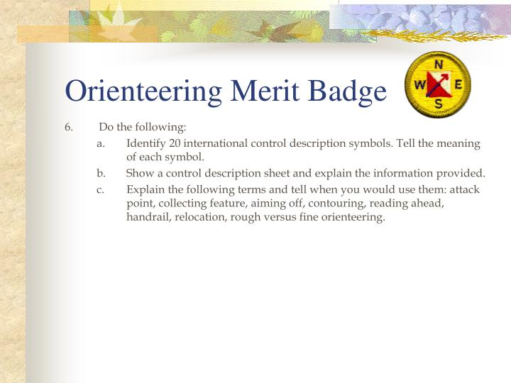 Orienteering Merit Badge