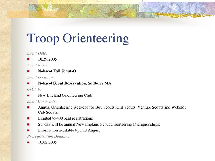 Troop Orienteering