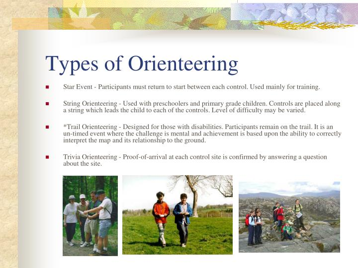 Types of Orienteering