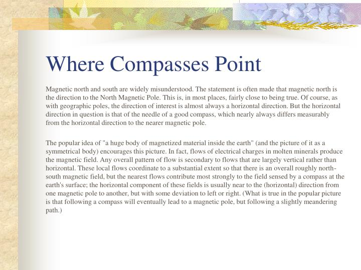 Where Compasses Point
