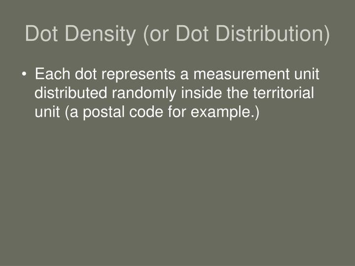 Dot Density (or Dot Distribution)