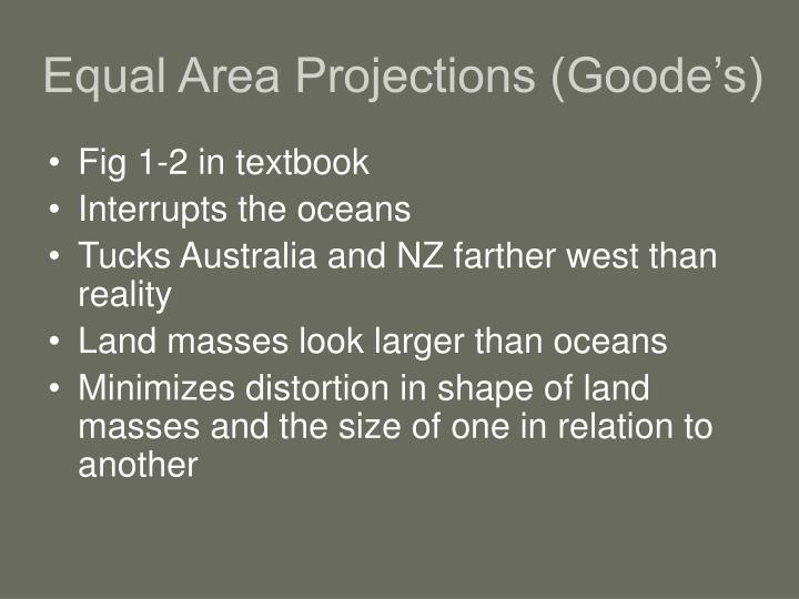 Equal Area Projections (Goode's)