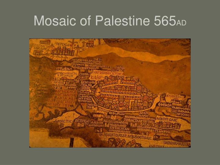 Mosaic of Palestine 565
