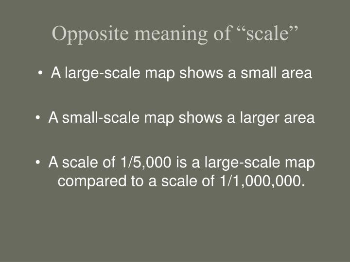 "Opposite meaning of ""scale"""