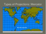 types of projections mercator