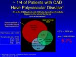 1 4 of patients with cad have polyvascular disease 1