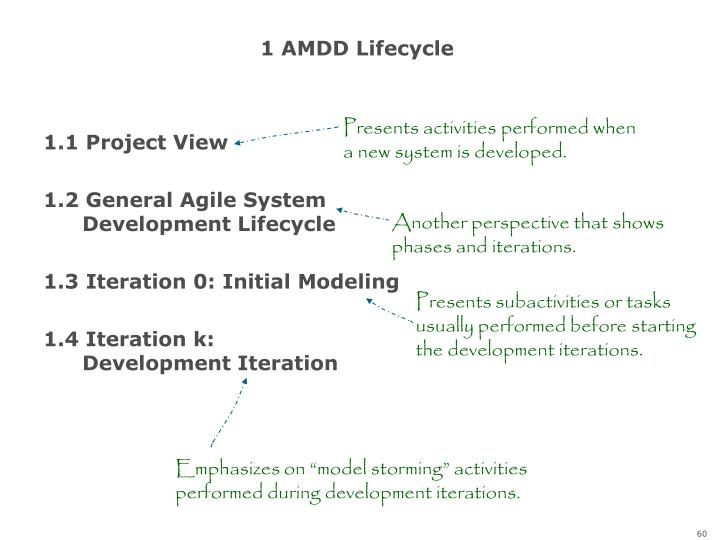 1 AMDD Lifecycle