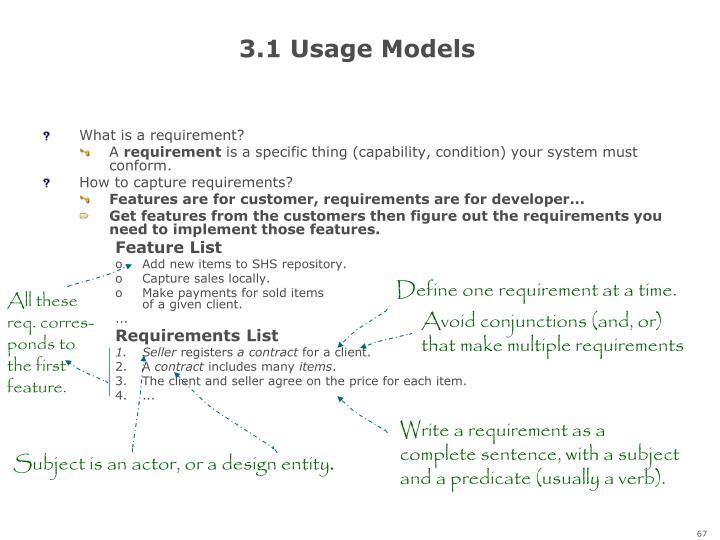 3.1 Usage Models