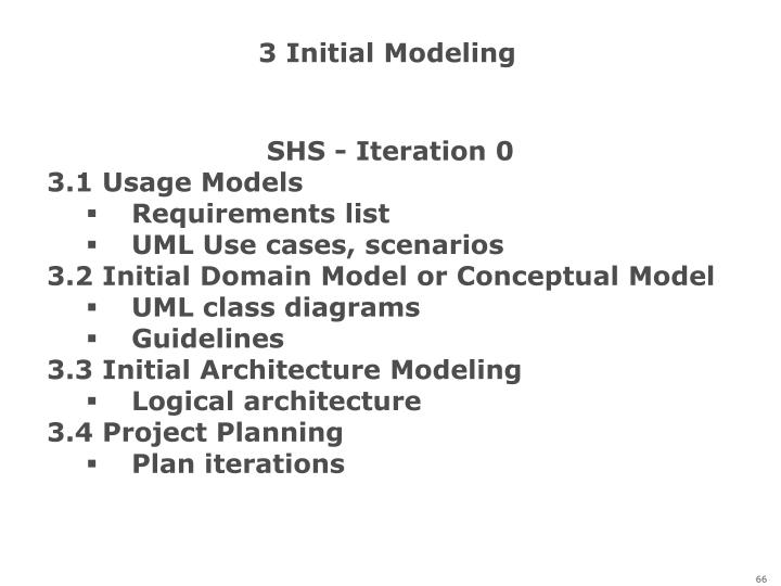 3 Initial Modeling