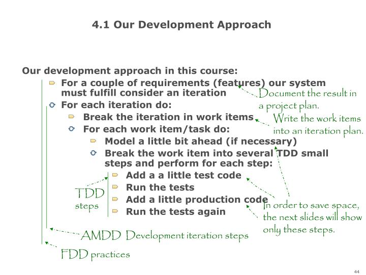 4.1 Our Development Approach