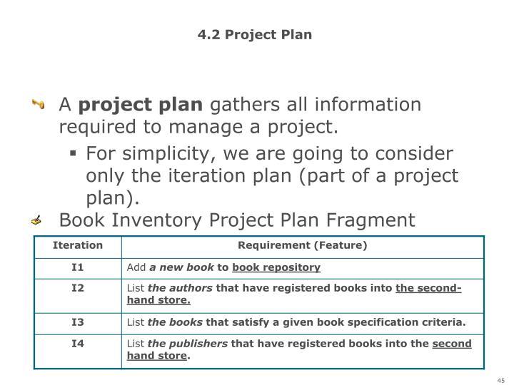 4.2 Project Plan