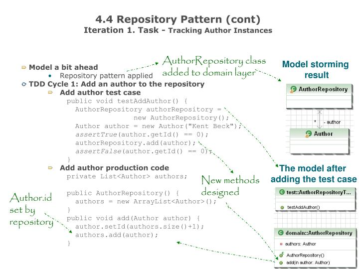 4.4 Repository Pattern (cont)