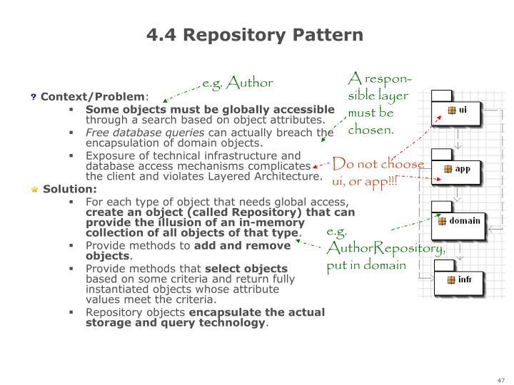 4.4 Repository Pattern