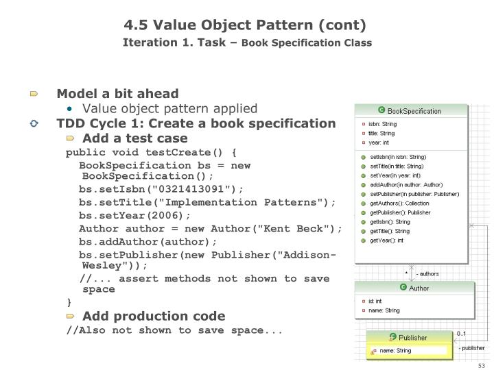 4.5 Value Object Pattern (cont)