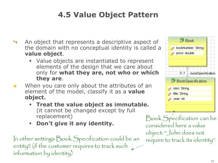 4.5 Value Object Pattern