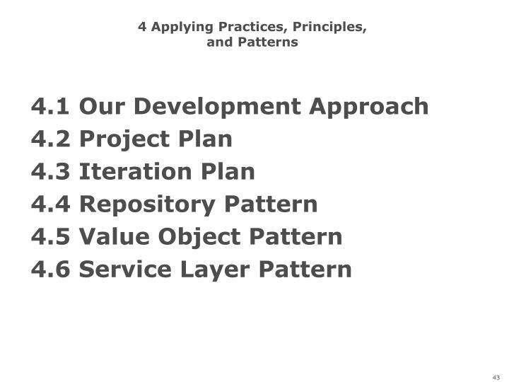 4 Applying Practices, Principles,