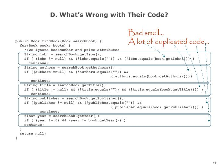 D. What's Wrong with Their Code?