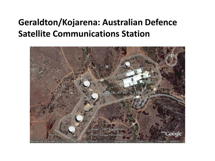 Geraldton/Kojarena: Australian Defence Satellite Communications Station