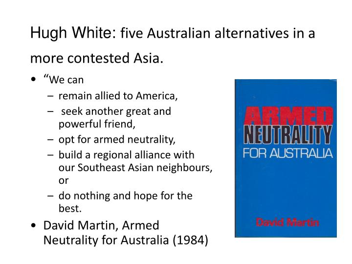 Hugh White: