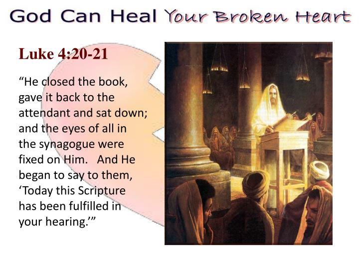 Luke 4:20-21