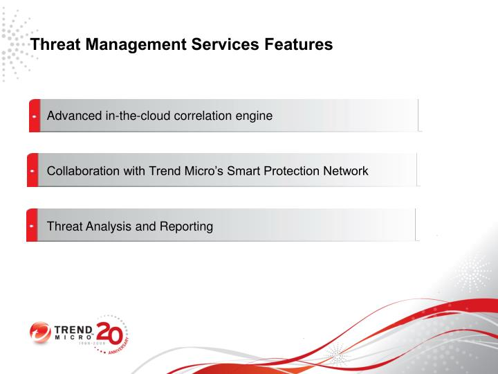 Threat Management Services Features