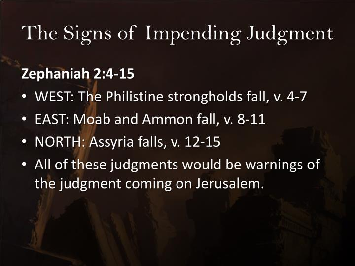 The Signs of Impending Judgment